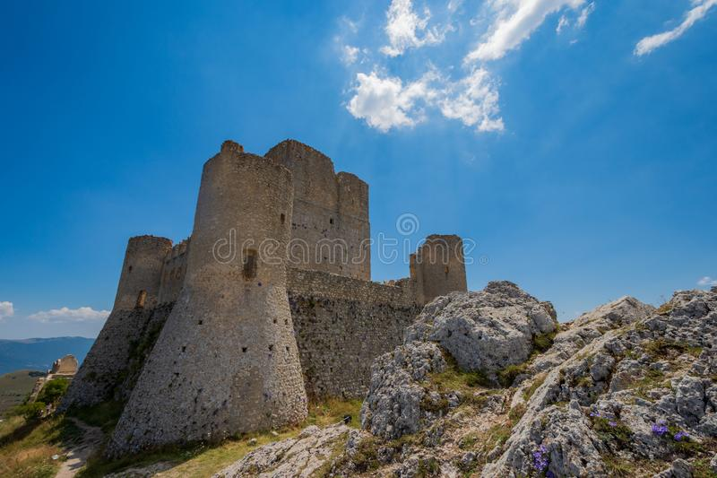 Abruzzo, Rocca Calascio. royalty free stock photography