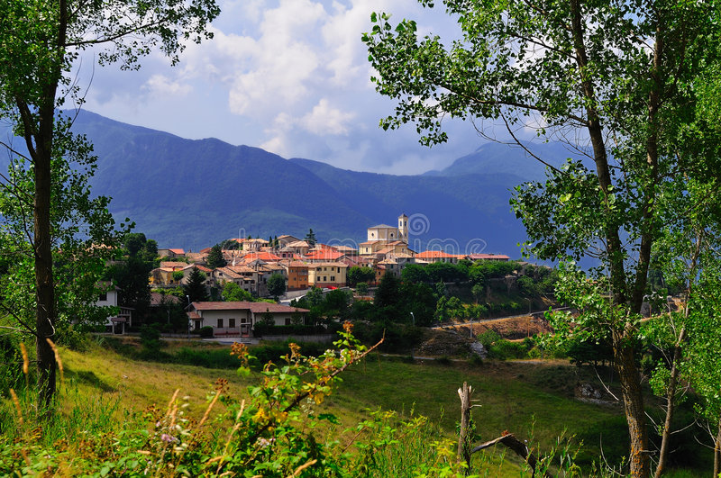 Download Abruzzo village stock photo. Image of central, green, relaxing - 5909810