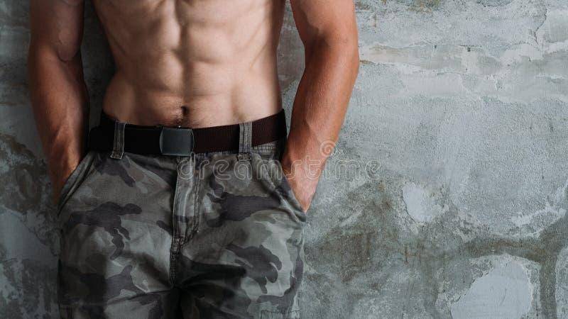 Abs ciała kształta siły sprawności fizycznej sportowy trening obrazy royalty free