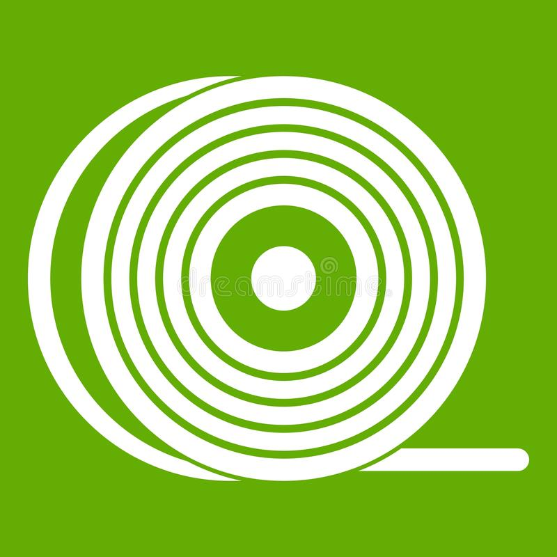 ABS ou vert d'icône de bobine de filament de pla illustration stock