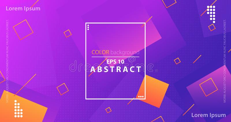 Trendy abstract flow gradient shapes composition. Creative geometric wallpaper. Trendy abstract flow gradient shapes composition. Applicable for gift card royalty free illustration