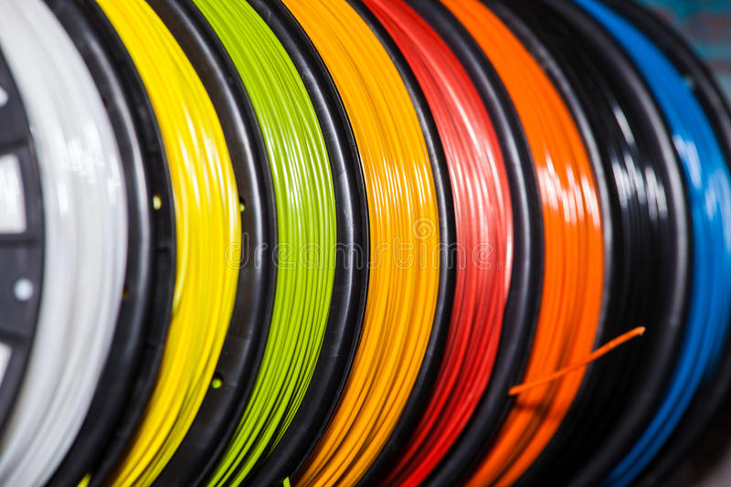 ABS wire plastic for 3d printer royalty free stock photos