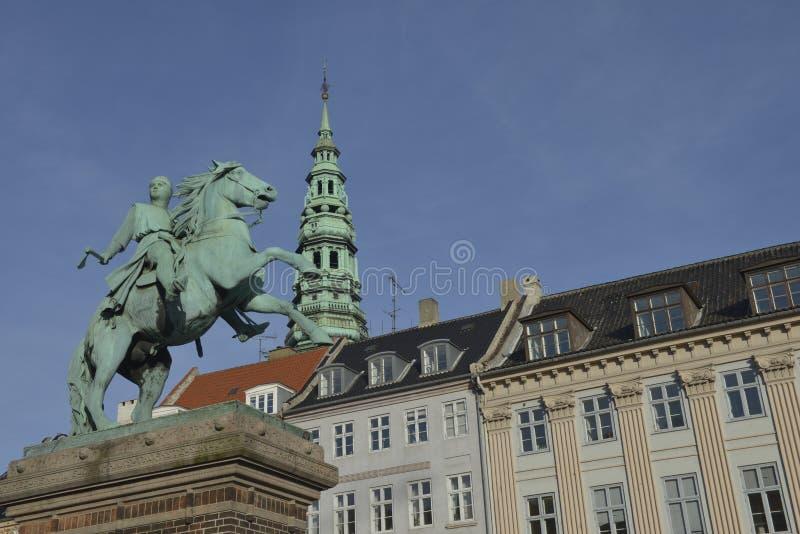 Absalon, el guerrero-obispo y fundador de Copenhague fotos de archivo libres de regalías