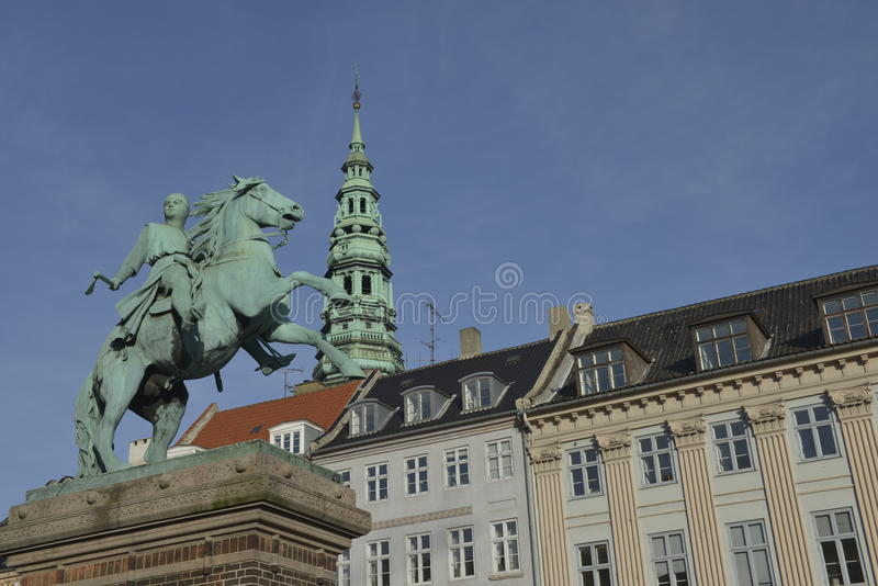 Absalon, o guerreiro-bispo e fundador de Copenhaga fotos de stock royalty free
