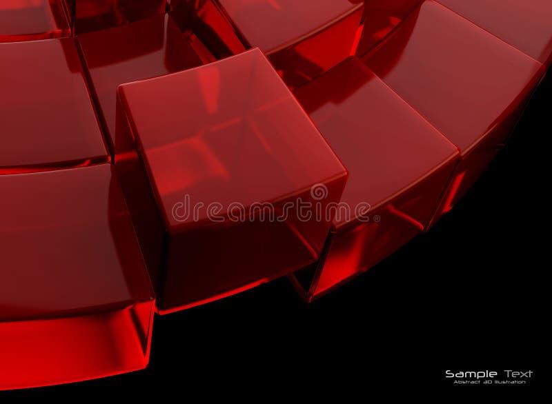 absatract tła czerń czerwień royalty ilustracja