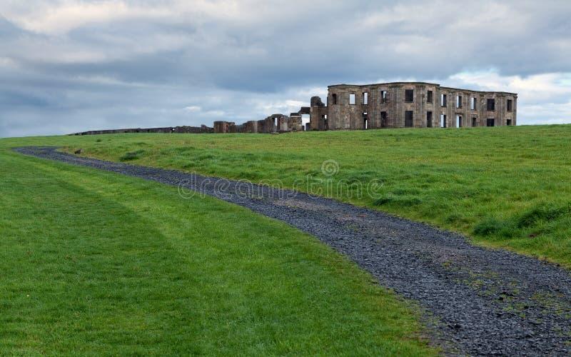 Abschüssiges Landhaus, Antrim Co. Nordirland stockfoto
