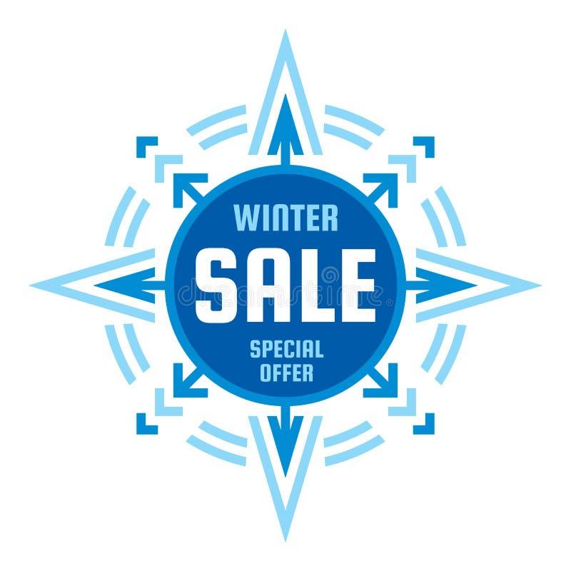 Abschließender Verkauf des Winters - Vektorkonzeptfahne Sonderangebotausweisillustration Geometrische Fahne der Rabattförderungs- stock abbildung