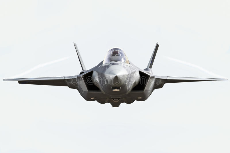 Abschluss der Vorderansicht F35 oben lizenzfreie abbildung