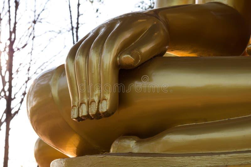Abschluss-Hand Buddha stockfotos