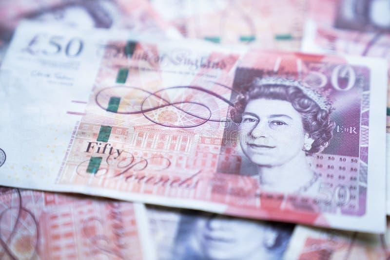 Abschluss herauf BRITISCHES Pfund, Geld von Vereinigtem Königreich stockbild