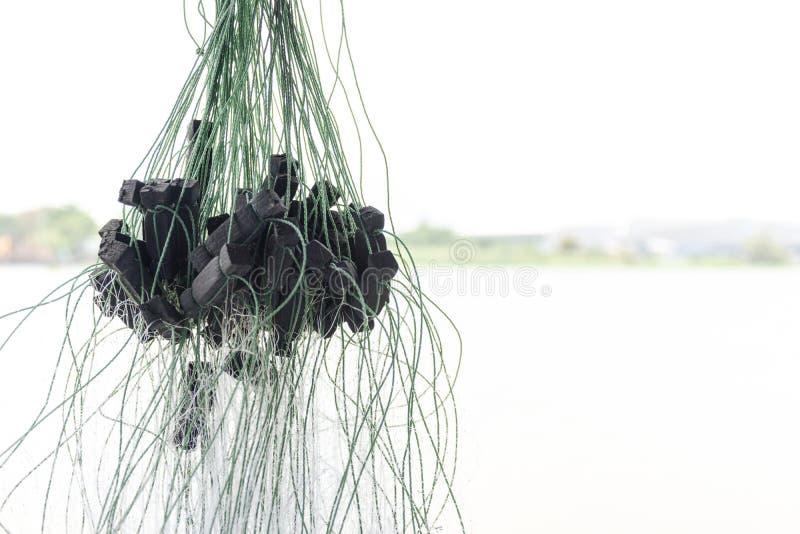 Abschluss herauf Fischernetz lizenzfreie stockbilder