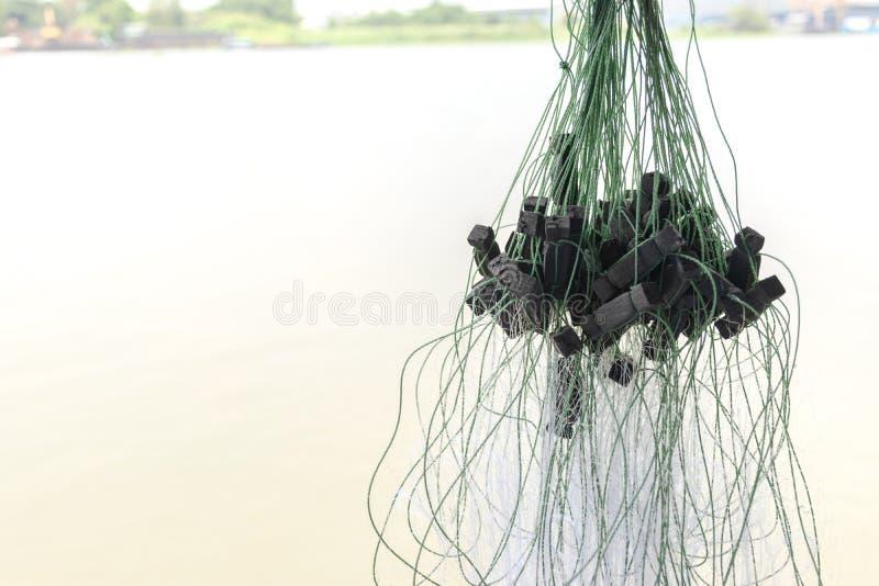 Abschluss herauf Fischernetz lizenzfreies stockbild