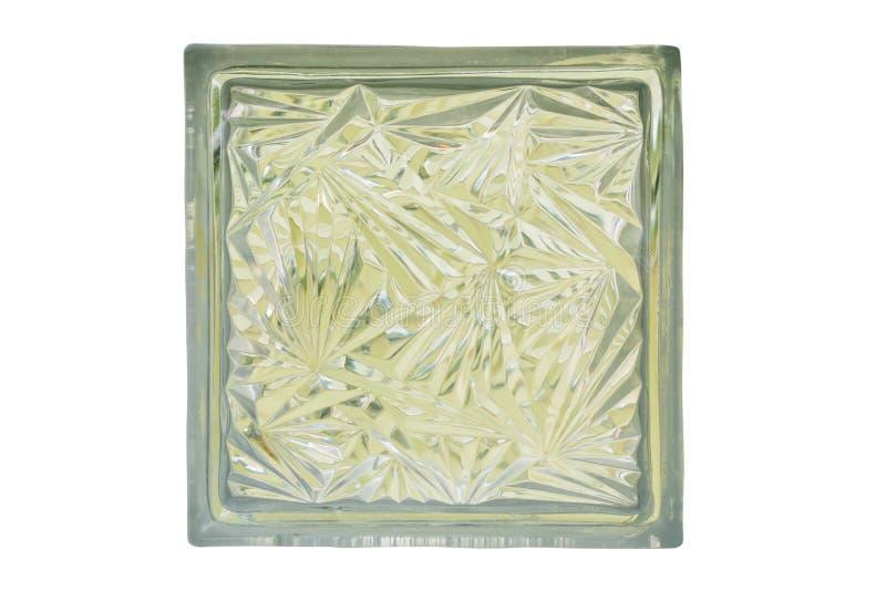Abschluss oben des Glasblockisolats, mit Beschneidungspfad lizenzfreies stockbild