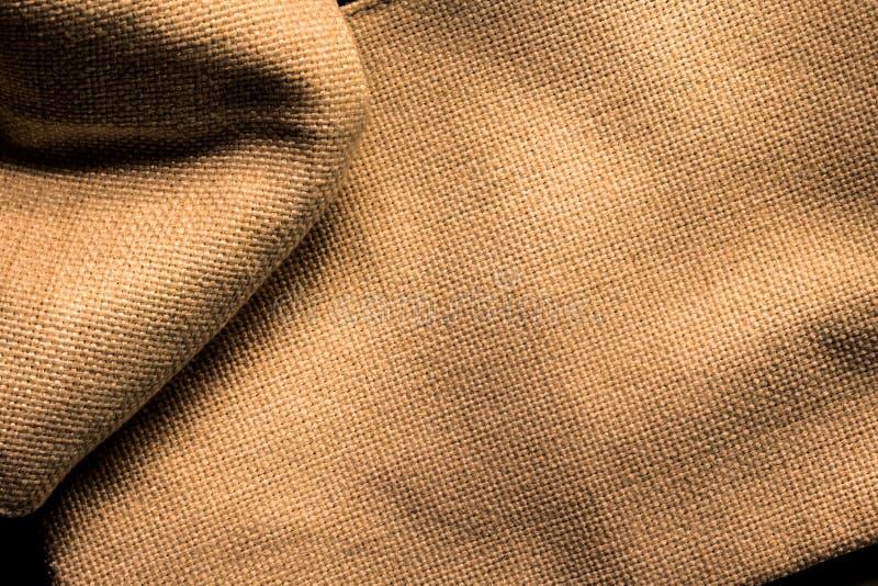 Abschluss oben Oberfläche des braunen alten Gewebes lizenzfreie stockfotografie
