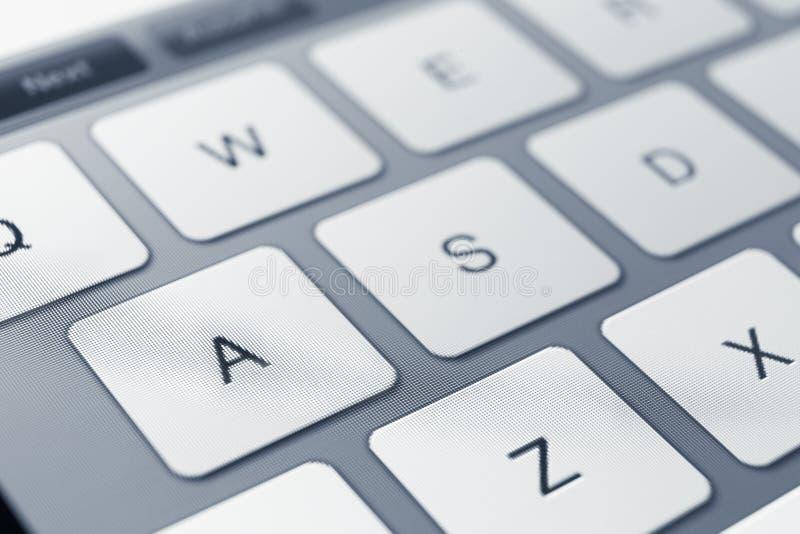 Abschluss oben von Tasten der PC-Tastatur stockfotos