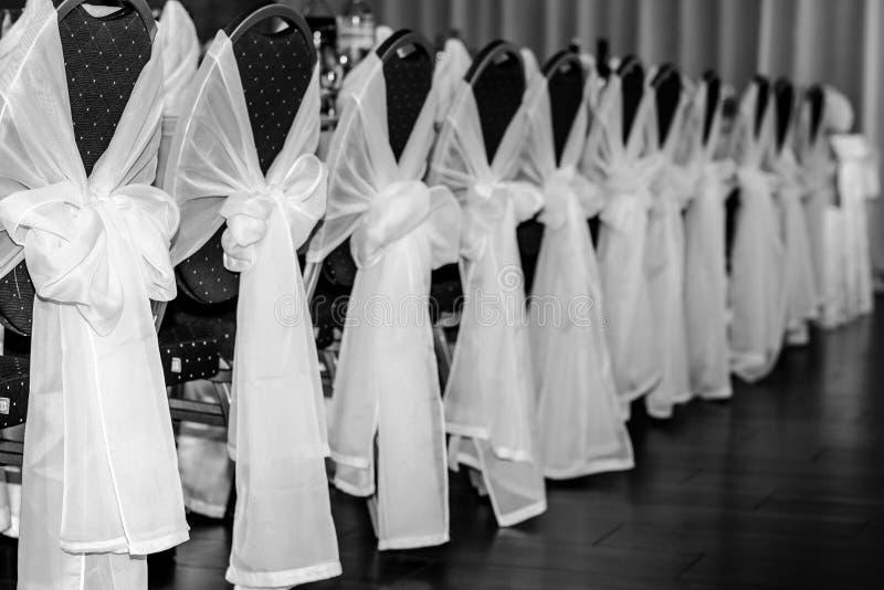 Abschluss tauchte Seitenansichtfoto der reizend würdevollen schönen eleganten reizenden netten Dekorationsabdeckung auf Stühlen i stockfotos