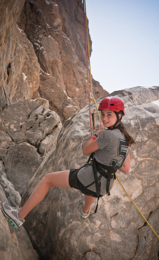 Abseiling images stock