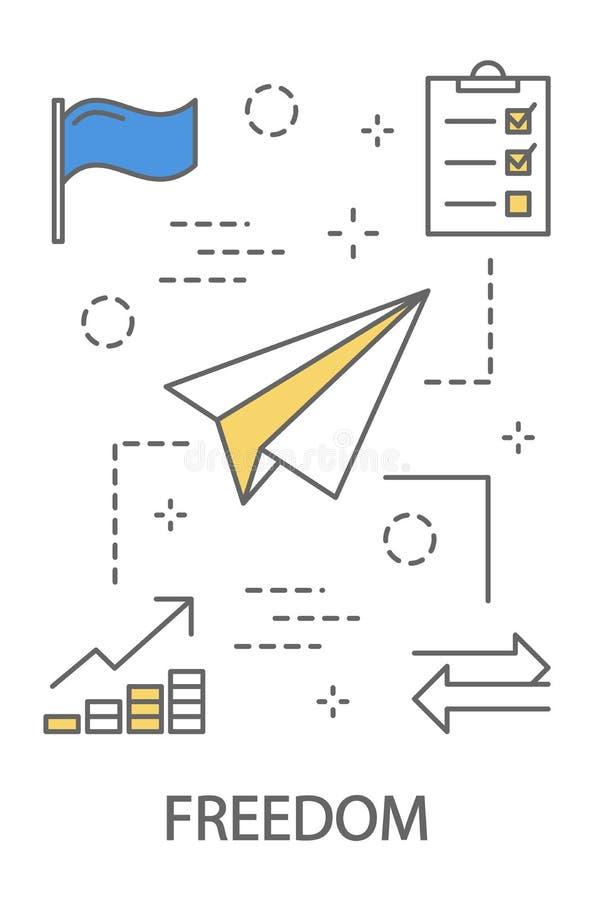 Absence de concept de travail de bureau illustration stock