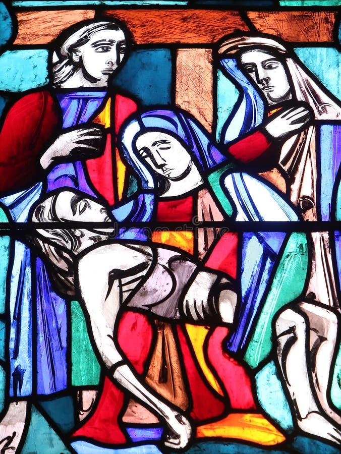 Absetzung von Christus stockfoto