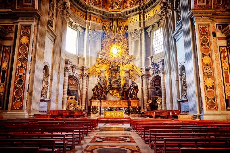 Abside de basilique de St Peter à Rome image libre de droits