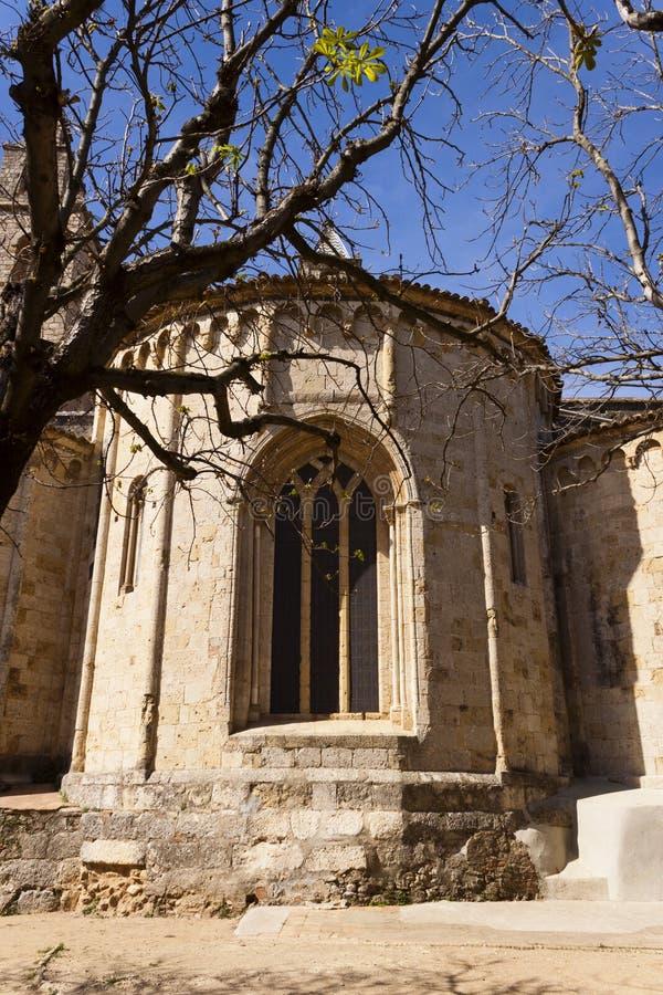 Abside du monastère roman de Sant Cugat, Barcelone photographie stock libre de droits