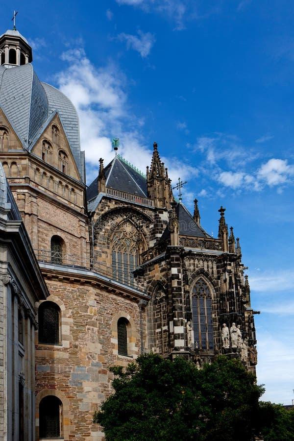 Abside sul Dom Cathedral Aachen, Alemanha fotografia de stock royalty free