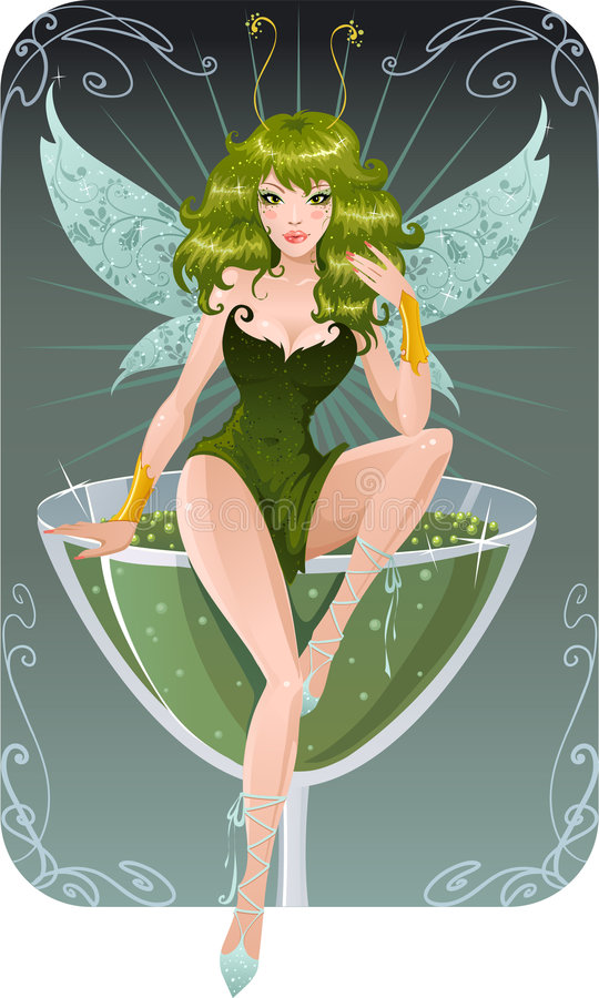 absinth νεράιδα διανυσματική απεικόνιση