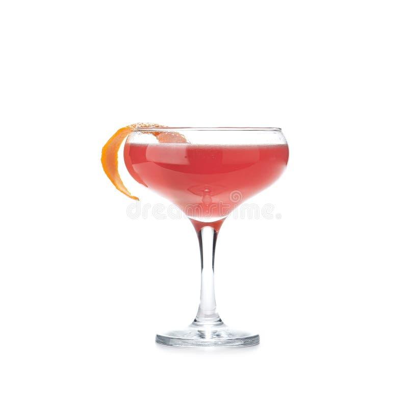 Absolut Rose Alcohol Cocktail mit den Beeren und Wodka lokalisiert lizenzfreie stockfotografie