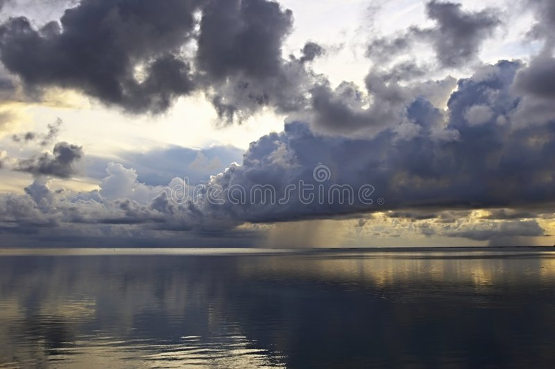 Absolute Calm Ocean. Absolute calm The Indian Ocean in the evening, Maldives royalty free stock image