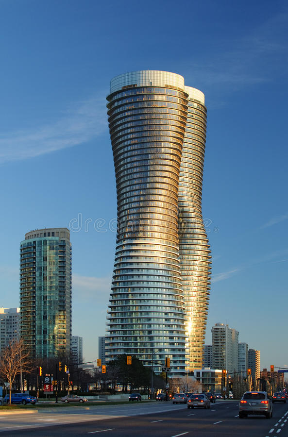Absolute Condominiums, Mississauga. TORONTO, ONTARIO - March 27: M.A.D. Architects of Beijing wins a competition to design the Absolute condominiums in stock photo