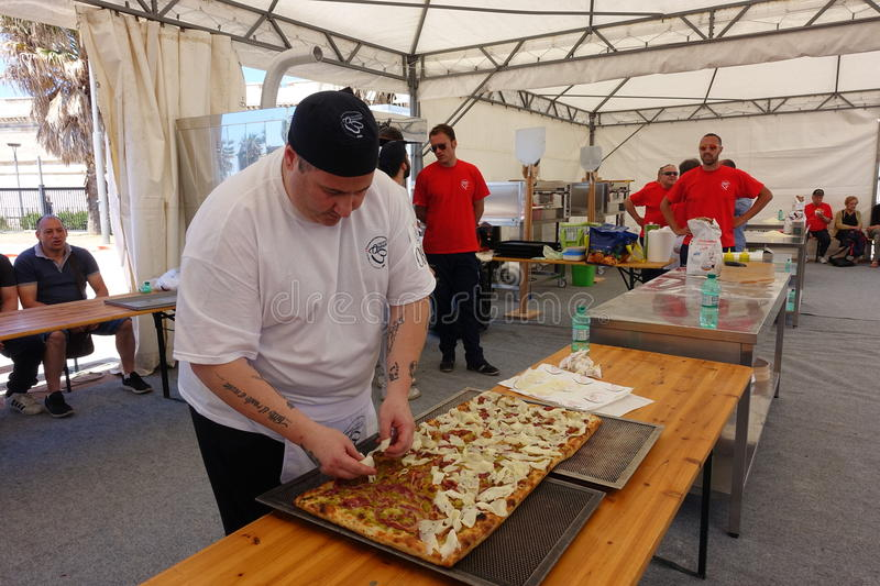 Absolute Italian championship of pizza. Civitavecchia Rome Italy is awarded the pizza championship for the seventeenth edition of the Absolute National royalty free stock photo