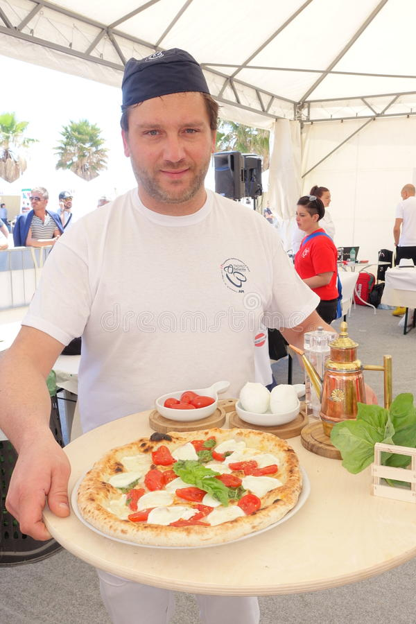 Absolute Italian championship of pizza. Civitavecchia Rome Italy is awarded the pizza championship for the seventeenth edition of the Absolute National stock photos