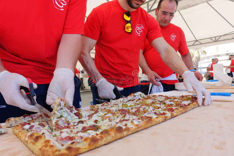 Absolute Italian championship of pizza. Civitavecchia Rome Italy is awarded the pizza championship for the seventeenth edition of the Absolute National royalty free stock photography