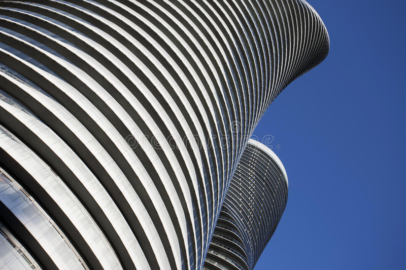 Absolute Towers Mississauga Toronto. Marilyn Monroe buildings royalty free stock image
