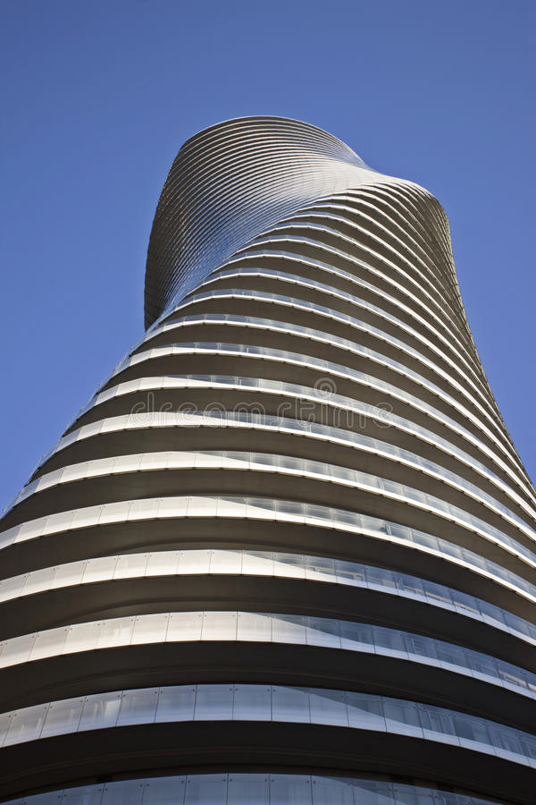 Absolute Towers Mississauga Toronto. Marilyn Monroe buildings royalty free stock photography