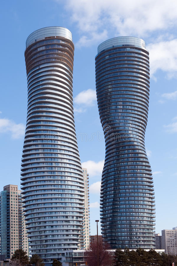 The Absolute World Condominium Towers stock photography
