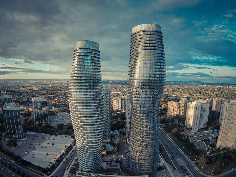 Absolute World Towers. In Mississauga royalty free stock photography