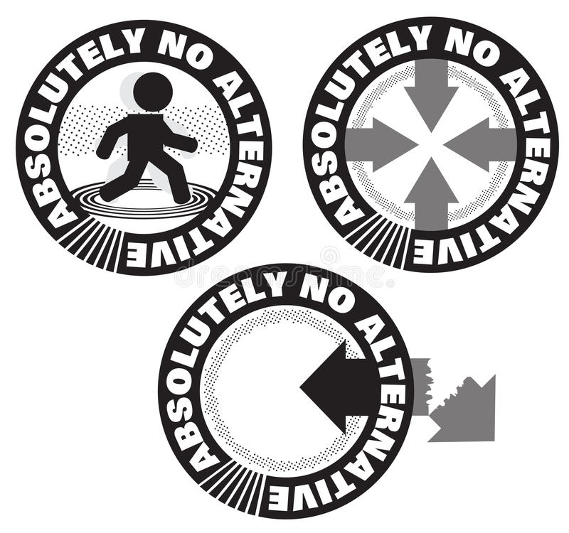 Absolutely No Alternative Stamp Symbol Logo Design stock photography