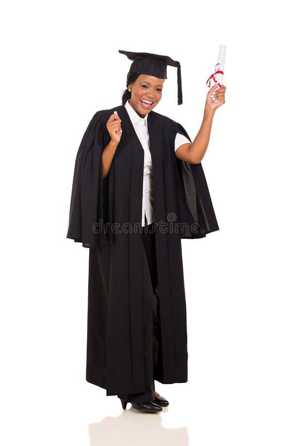 Absolvent mit Diplom stockbilder