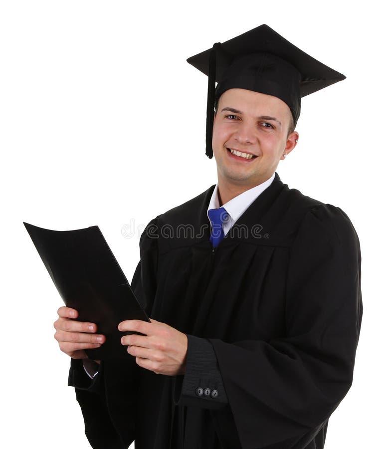 Absolvent mit einer Datei stockbild