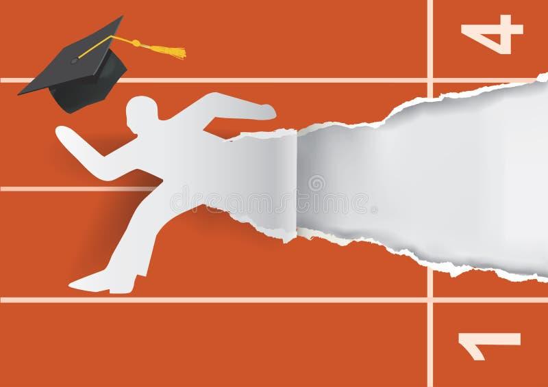 Absolvent, zum einer Karriere zu beginnen vektor abbildung