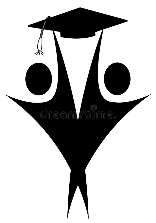 absolwenci royalty ilustracja