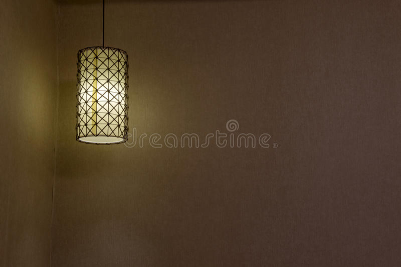 Absorb dome light in a hotel. Close-up of a chandelier stock photos