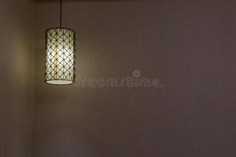 Absorb dome light in a hotel. Close-up of a chandelier stock images