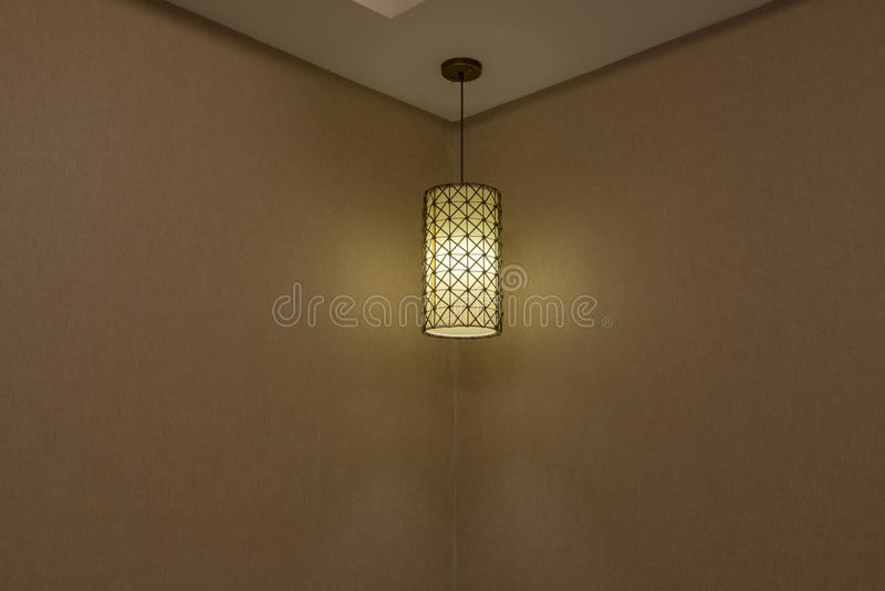 Absorb dome light in a hotel. Close-up of a chandelier stock photography
