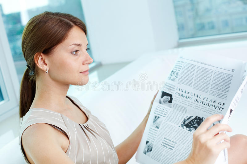 Download Absorbed in thoughts stock image. Image of holding, office - 28377199