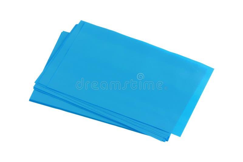 absorbing стог листа синего масла стоковое изображение rf