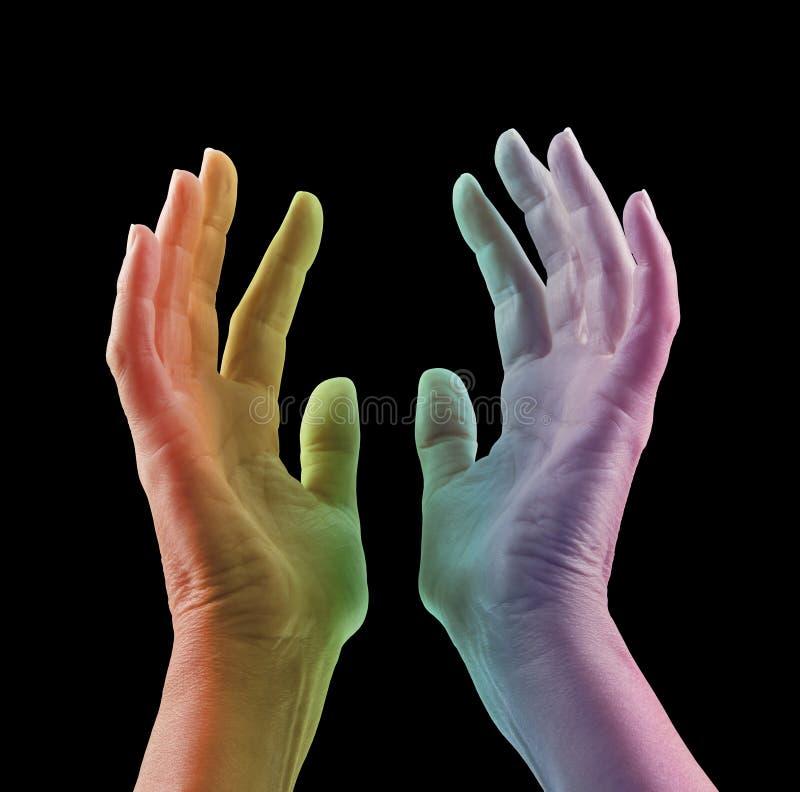 Absorbująca koloru światła terapia zdjęcia stock
