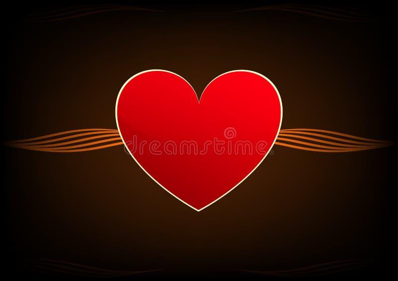 Absract红色心脏 库存例证