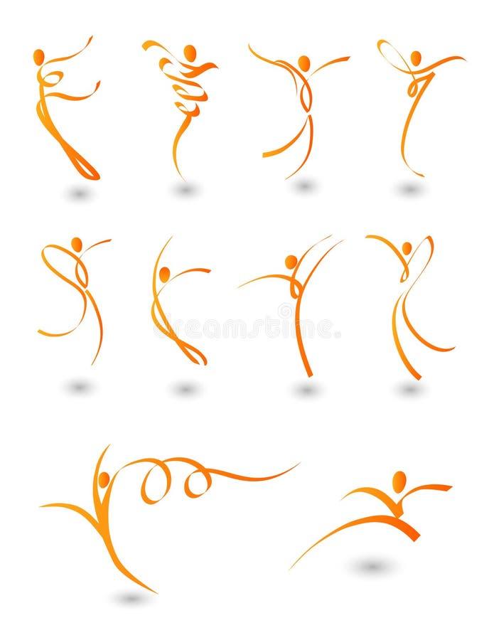 absract 112 postaci ilustracja wektor